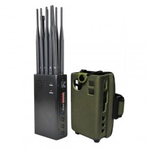 Handheld 10 Bands All-in-one Cell Phone 2G/3G/4G + LOJACK + GPSL1 + WiFi(2.4G, 5.8G) Signal Jammer