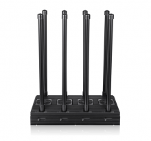 8 Antennas 210 W High Power Mobile Phones WiFi GPS All-in-one Signal jammer ,Jamming Range up to 150m