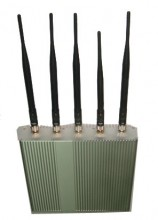 Remote Controlled Powerful 3G Mobile Phone Signal Jammer with 5 Antennas