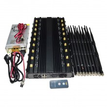Desktop 18 Bands Adjustable 2G/3G/4G Mobile Phone + WiFi 2.4G 5.2G 5.8G + GPS + RC + UHF/VHF All-in-one Signal Jammer