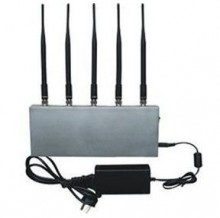 High Power Desktop Style 3G Mobile Phone Signal Jammer with 5 Antennas