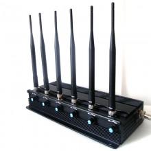 High Power Adjustable Design All Wireless Bug Camera Jammer WiFi GPS Blocker