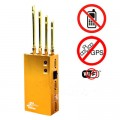 Golden Color WiFi GPS 3G Mobile Phone Signal Blocker with Portable Design