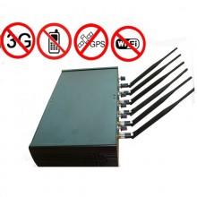 High Power Adjustable Design GPS WiFi Bluetooth 3G Mobile Phone Signal Jammer