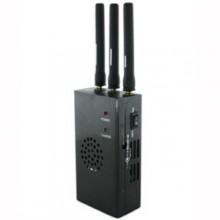 Handheld Style 4G XM Radio LoJack Signal Jammer with 3 Antennas